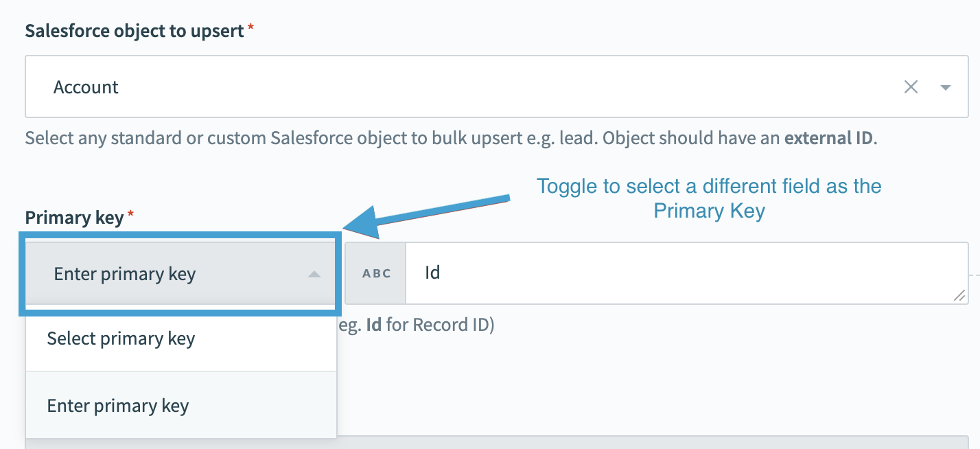 Salesforce primary key image
