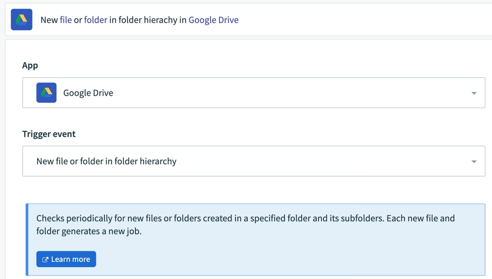 Google Drive Connector Screen