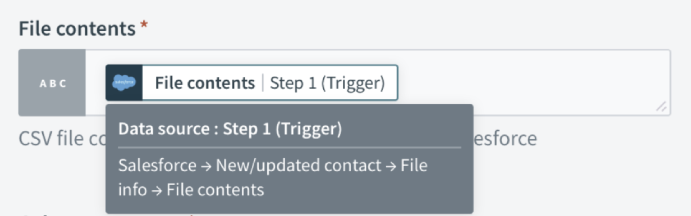 Data Pill Hover Screenshot