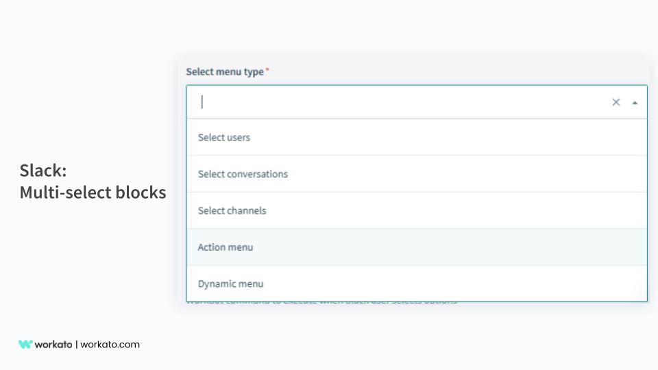 Slack Multi-select block