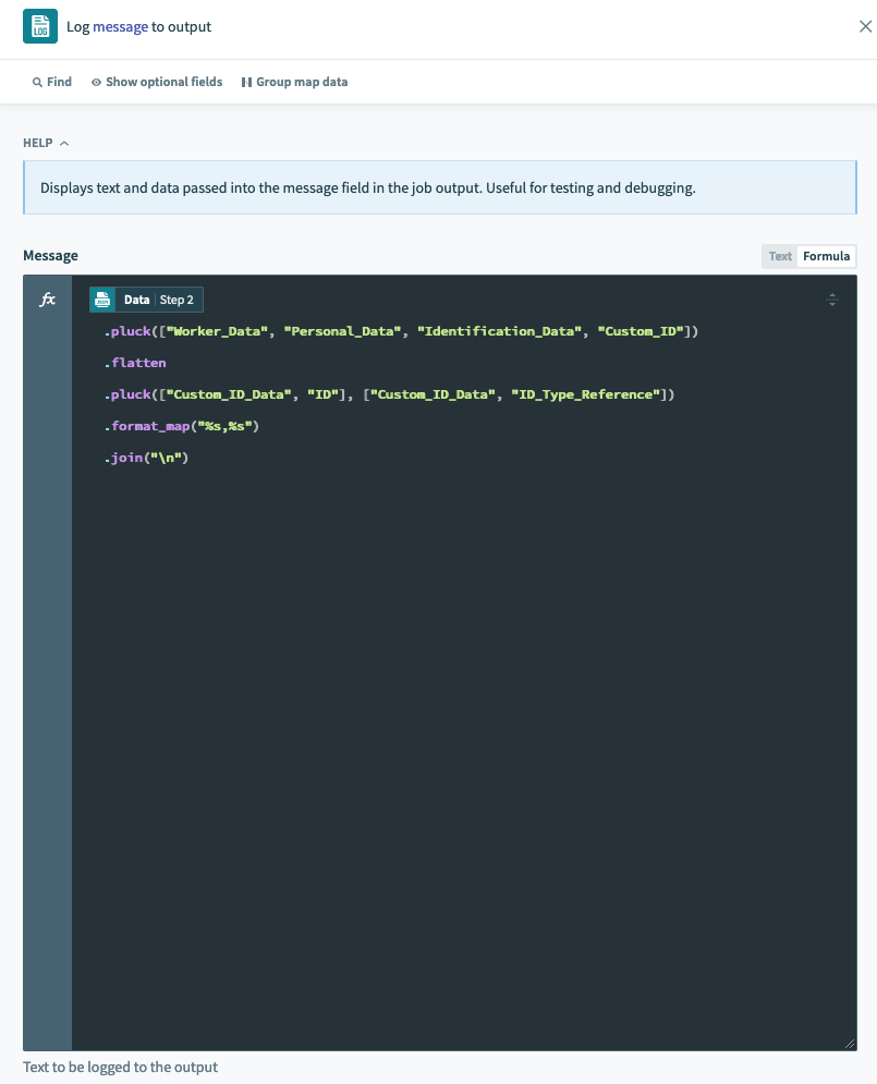 Expanded mode for improved readability